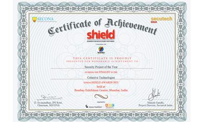 Certificate of Achievement - Secutech India